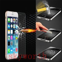 For Apple iPhone Front  Tempered Glass Screen Protector for iphone 5 5S 6 6+ Plus 5.5 Samsung galaxy S5 S4 S6 Edge note 3 4 5