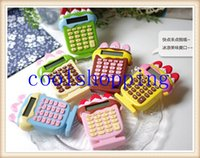 Wholesale DHL Freeshipping stationery cute cartoon super adorable mini portable student calculator on sale