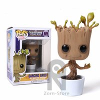 Wholesale Zorn Store Funko POP Guardians of the Galaxy Dryad Groot Cartoon Garage Kits Model Q version Moving head doll Decoration Toys