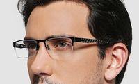 best business online - 2015 Titanium eyeglass frames black or silver or gray color mens men best Business eye glasses half optical frame eyeglasses online