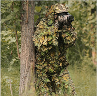 Wholesale 3D camouflage ghilli suit maple leaf camouflage hunting suit Bionic training suit Paintball Airsoft Photographing Military