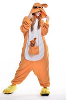 adult baby outfits - kangaroo With A Baby Kigurumi Pajamas Animal Suits Cosplay Outfit Halloween Costume Adult Garment Cartoon Jumpsuits Unisex Animal Sleepwear