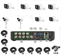 Wholesale Via DHL EMS HD P ch CCTV System hybrid DVR Kit channel DVR KIT full H video recorder TVL security camera system