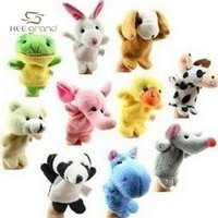 animal pics - Pics Baby Plush Toy Finger Puppets Talking Props Animal Group D006