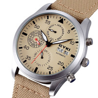eyki - New Arrival EYKI Brand Automatic Mechanical Watches Men Luxury Brand Sport Watch Fabric Band Years Month Week Date Wristwatches
