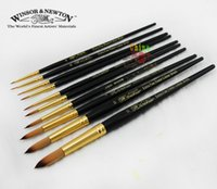 acrylic round rod - Qin windsor newton black rod round toe nylon gouache pen watercolor pen acrylic paint brush