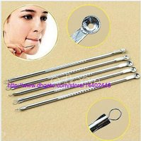 Wholesale 2000pcs Acne Blemish Extractor Blackhead Comedone Remover Stainless Needles Tool Pimple facial care Tools Silver Color