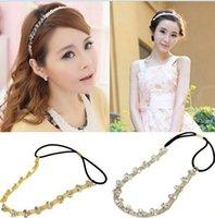 Cheap Korea Girls Flower Crystal Rhinestone Elastic Hairband Headband Hair Accessories