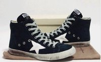 Cheap 2016 Fashion new style New Golden Goose Superstar High Top Genuine Leather shoes Men Women Shoes