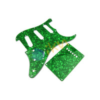 Wholesale 3Ply Green Pearl Color SSS ST Style Start Guitar Pickguard Back Plate Rarely