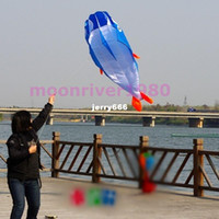 Wholesale D Kites Huge Parafoil Giant Dolphin Blue Power Kite Outdoor Sports Easy to Fly