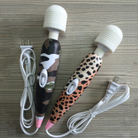 Wholesale Leopard V Powerful AV Vibrator for Women Body Multi Speed Sex body massager Stimulation Clitoris Magic Wand sex toys for woman