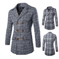 Wholesale New winter long in man suit brought cloth coat double breasted coat Does the coat of Slim F5285