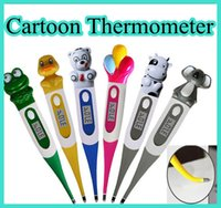 Baby Thermometers baby tips - cute Baby Care digital LCD Thermometer For Kids Oxter Cartoon Thermometer With Soft Tip
