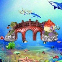 Wholesale New Hot Resin Rockery Fish Tank Ornament Aquarium Decor Three eye Arch Bridge