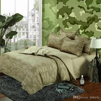 Wholesale Camouflage Army bedding sets king queen size pure cotton adult Childrens Bedding Sets green