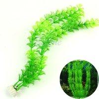 Wholesale quot Stunning Green Artificial Grass Plastic Fish Tank Water Plant Aquarium Decor