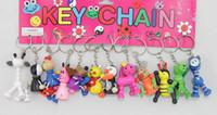 Wholesale NEW Cute wooden Cartoon animals phone Charm strap Pendant