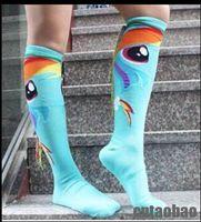 animals women tube - Handmade braided tube female socking My Little Pony Personality with tail calf socks MOQ pairs