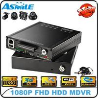 Wholesale Full HD P CH quot HDD Vehicle DVR G WIFI GPS G Sensor for School Bus Taxi car