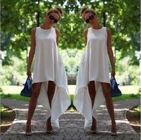 sexy summer dresses fashion - 2015 fashion New Sexy Women Summer Chiffon Maxi Evening Party Cocktail Asymmetrical Boho Beach Dress