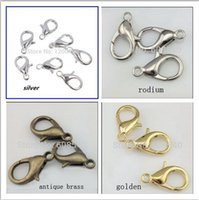 Wholesale 100pcs x6mm Zinc Alloy Jewelry Findings Lobster Clasp Hooks Vintage Jewelry Making Clasps AE00759 order lt no track