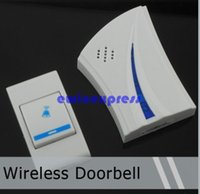 Wholesale Freeship Remote Wireless Cordless Musical Melody Doorbell Door Bell Good quality Low Price