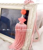 ball fringed curtains - Textile new Aunt jade gold curtains hanging ball lob tying straps tie ball pendant fringed accessories