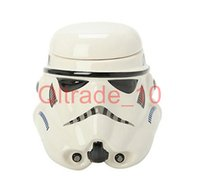 Wholesale 4PCS Star Wars Mug Stormtrooper Helmet Darth Vader Helmet Mug D Ceramic Coffee And Drink Cup With Removable Lid Hot Sell