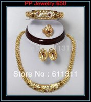 Cheap Wholesale-Promotion!!!High quality 24K gold jewelry sets,fashion wedding costume jewelry sets