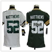 authentic white clay matthews jersey - Factory Outlet The best Christmas gift Clay Matthews White Green Youth Authentic Football Jerseys Size S XL Mix order