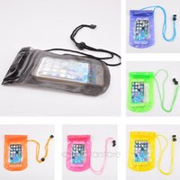 pvc door - PVC plastic Waterproof Bag Case for Touch Screen Mobile Phone Double Sealing Clear Out Door Travel Phone Accessary For iphone Plus S S