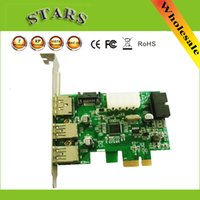 Wholesale PCI Express ports USB3 eSATA eSATAp II USB to PCI E PCI Express Card w Motherboard pin Connector eSATA with D720201