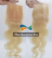 Cheap Virgin Hair Blonde Lace Closure Best Platinum Blonde Silk Base Lace Closure