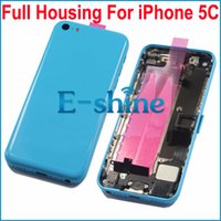 Wholesale For iPhone5C Full Housing Back Battery Door Cover Frame Assembly with Full Parts For Apple iPhone C