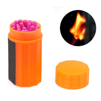 Wholesale 20pcs Waterproof Portable Match Survival Kit Extra large Head Matches for Outdoor Camping Emergency Tool