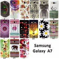 Wholesale Tribal Aztec TPU Case For Samsung Galaxy A7 A5 A3 Flower Owl Elephant Soft Back Cover mix order