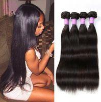 Wholesale 6A Brazilian Virgin Hair Weave Silky Straight Unprocessed Human Hair Extensions Natural Color g unit Bundles
