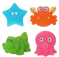 bath world - 4pcs bag sea world water bathing beac Popular educational toys children baby bath toys suits