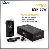 Aspire Aspire ESP 30W Mod 1900mah Authentic Aspire ESP 30W Mod Battery 1900mah Aspire Variable Wattage 5W-30W Electronic Cigarette LiPo Battery Fit for Atlantis v2 Mega