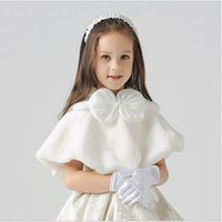 Wholesale Princess dresses cover up accessory shawls new autumn winter Flower girls children dress accessories wraps kids clothing age T