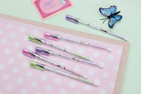 Wholesale Pure love students neutral pen refills pen pen mm ultrafine carbon black Only per box of written mm