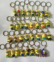 action figure car - 3D Despicable Me Minion Action Figure Keychain Keyring Key Ring Cute choose like style opp packaging