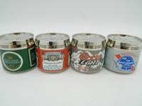 aluminum can tops - 1 pc Pop top Can Shape Metal Cigar Tobacco Grinder Aluminum Herbal Herb Smoke Crusher Mini Hand Muller Stainless steel Hookah Accessories