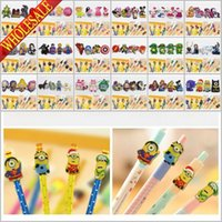 Wholesale Free DHL Minions Avengers My Little Pony PVC Pencil Cap for Kids Students Cartoon School Stationery Party Supplies Pens Accessories