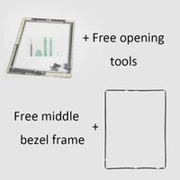 Wholesale for ipad Touch Screen Glass Digitizer Assembly with Home Button M Adhesive Glue Sticker Middle Bezel Frame for iPad
