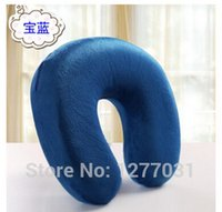bamboo support - Soft Neck Protect Pillow Space Memory Cotton Massager posture corrector Pillow Flight Travel Nursing Cushion braces amp supports