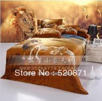 activate unique - Unique Lion leopard tiger print bedding set Cotton activated ink d personalized piece cotton comforter bedding set