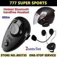 Wholesale 2pcs Bluetooth Headsets Bluetooth Intercom Ski Helmets Interphone Motorcycle Capacetes Casco KIE