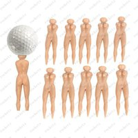 Wholesale Nude Color Lady Golf Tee Joke Prank Naked Lady Golf Tee Divot Divot Golf Bag Pitch Fork Stag Stocking Filler